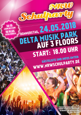 NRW Schulparty, Flyer Vorderseite